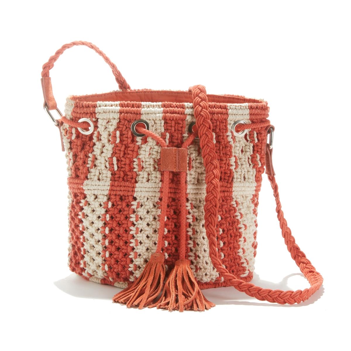 Сумка La Redoute Из макраме UNI оранжевый сумка с макраме