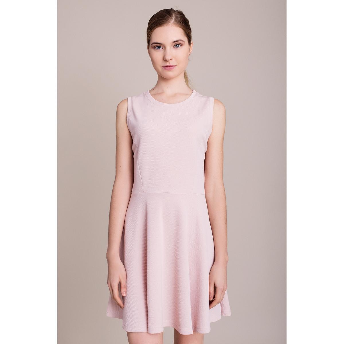 Платье без рукавовХарактеристики и описание        Материал         100% полиэстера        Марка    MIGLE+ME<br><br>Цвет: бледно-розовый