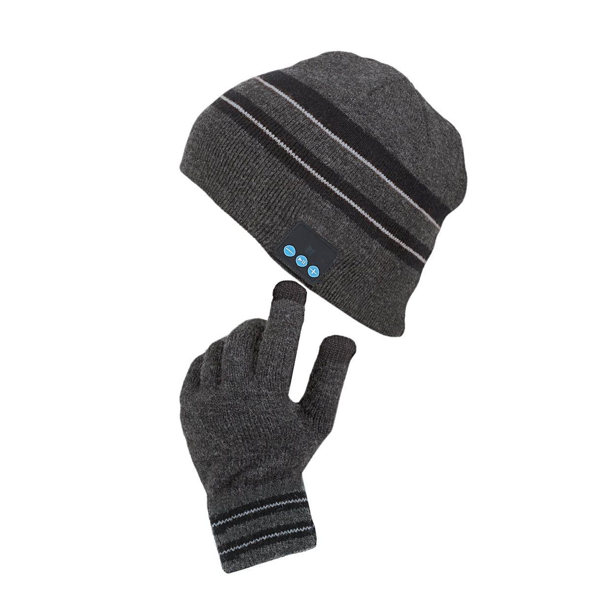 Bonnet bluetooth® et gants tactiles