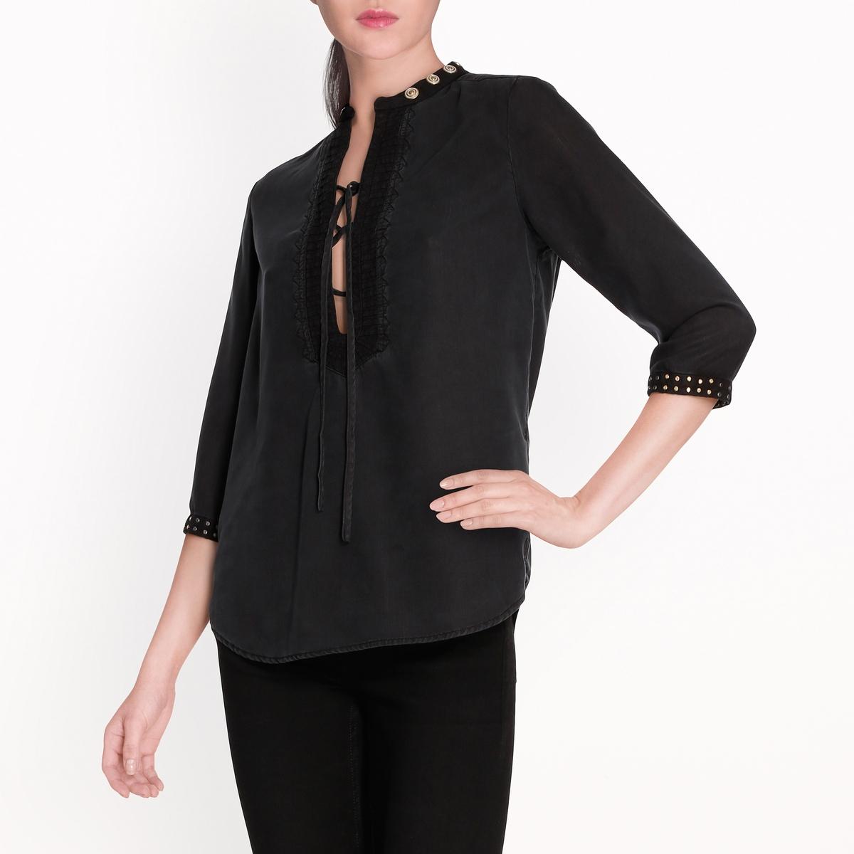 Блузка с заклепками maison scotch футболка с длинными рукавами