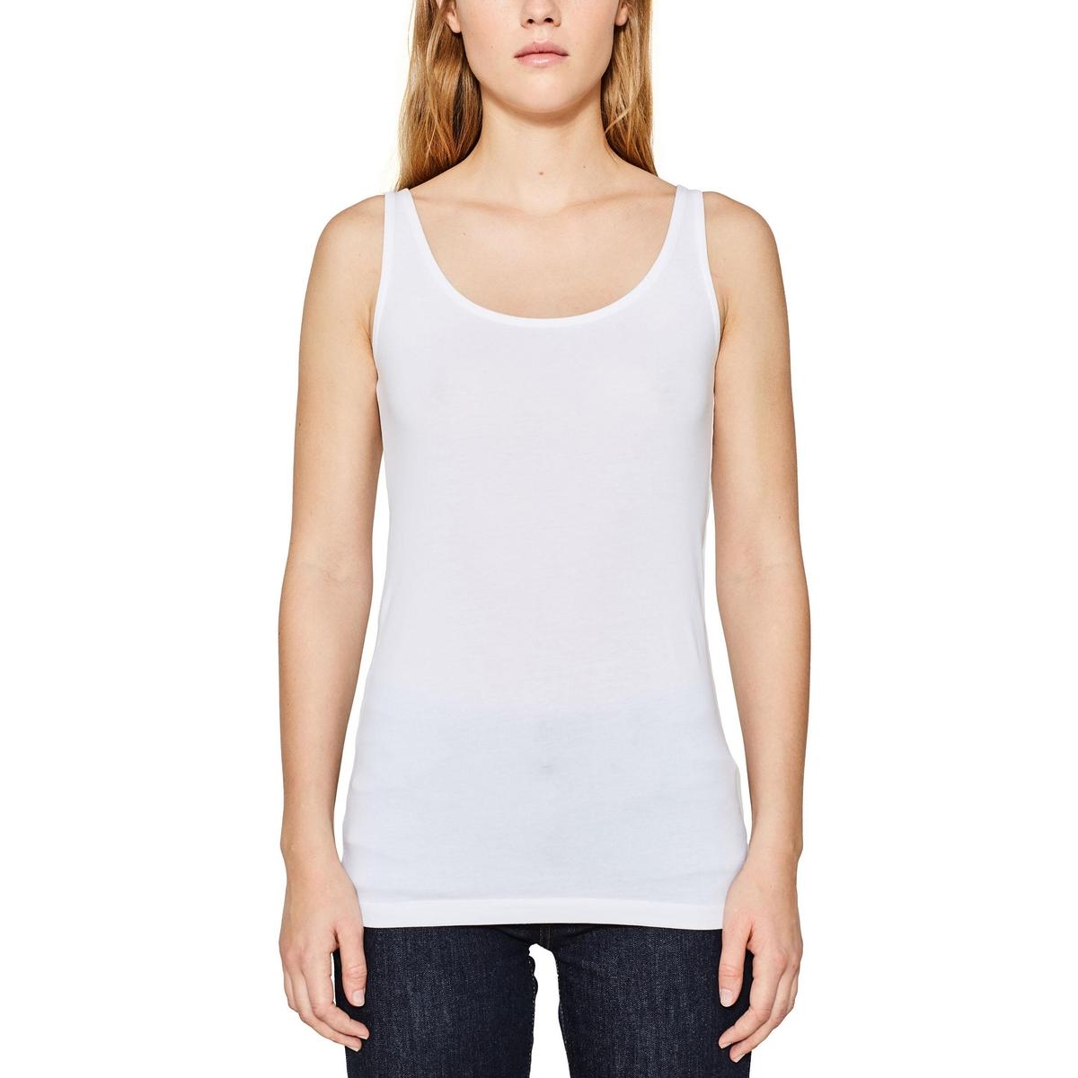 Camiseta lisa sin mangas de cuello redondo