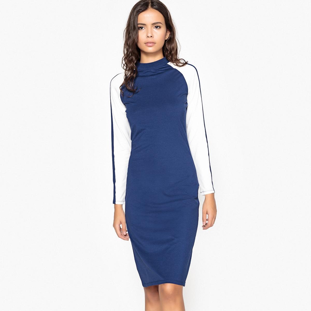 Платье-миди La Redoute В спортивном стиле из джерси M синий платье рубашка la redoute джинсовое с поясом m синий
