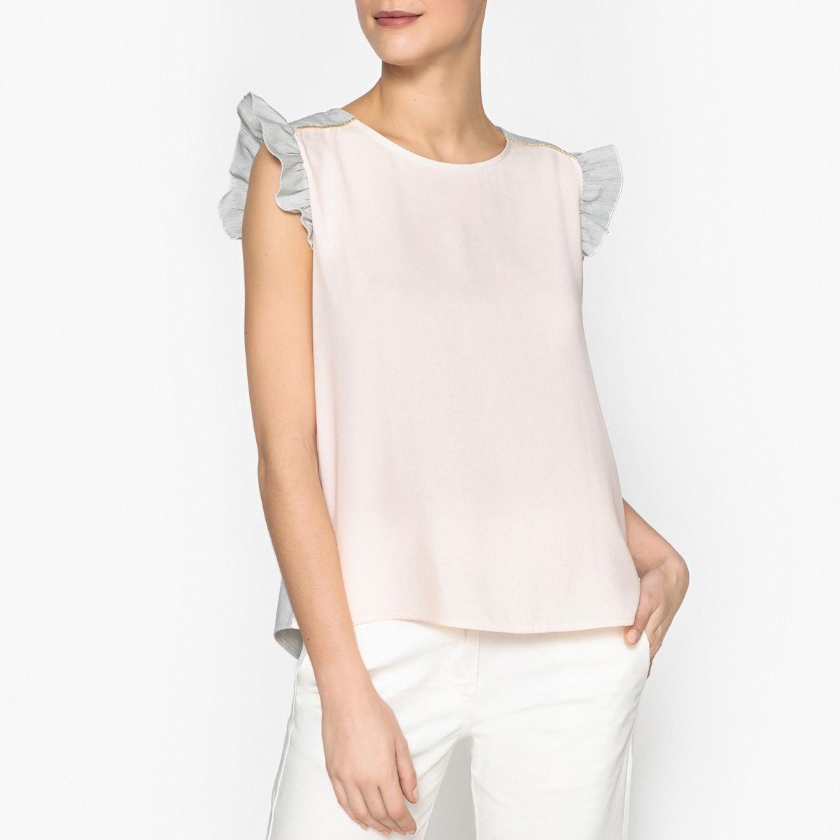 Блузка без рукавов с воланами WORKING GIRL