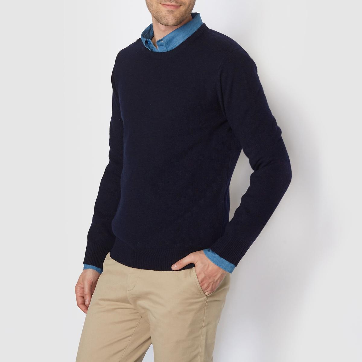 Пуловер с круглым вырезом,  100% овечьей шерсти