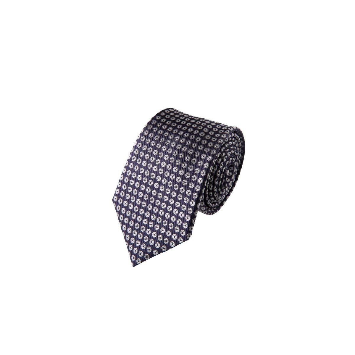 Cravate motifs ronds en soie, Made in France