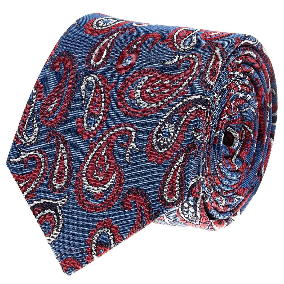 Cravate   soie à motifs cachemire colorés