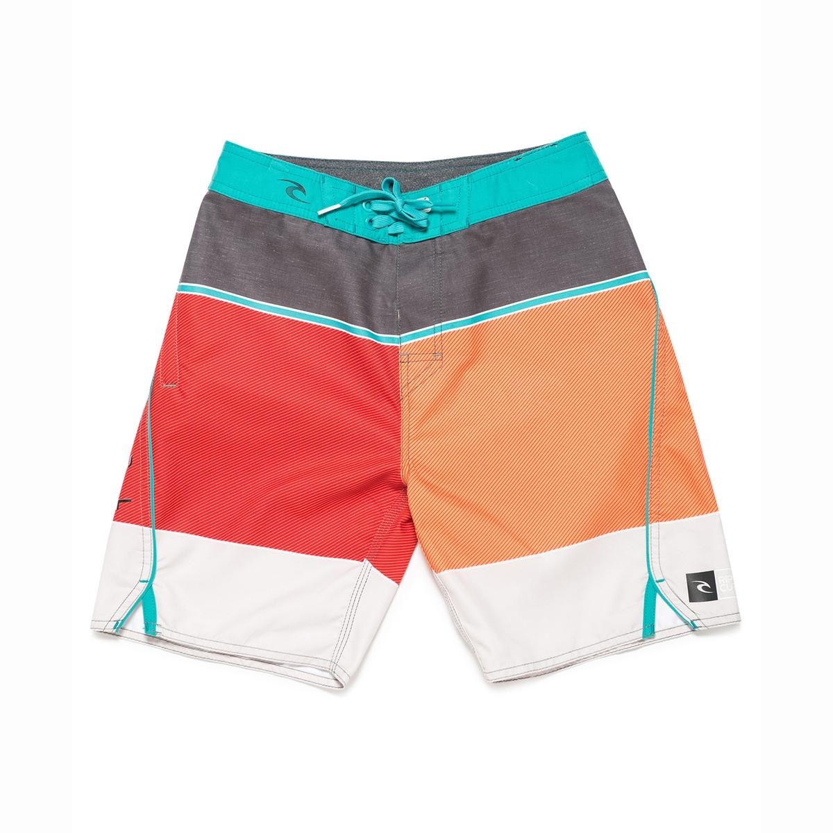 Шорты пляжные в разноцветную полоску 8-16 летШорты пляжные в полоску. Эластичный пояс с завязками . Карман на молнии. Логотип RIP CURL сбоку .Состав и описаниеМатериал: 100% полиэстераМарка RIP CURLУходМашинная стирка при 30°,сушка в барабане и глажка запрещена .<br><br>Цвет: оранжевый