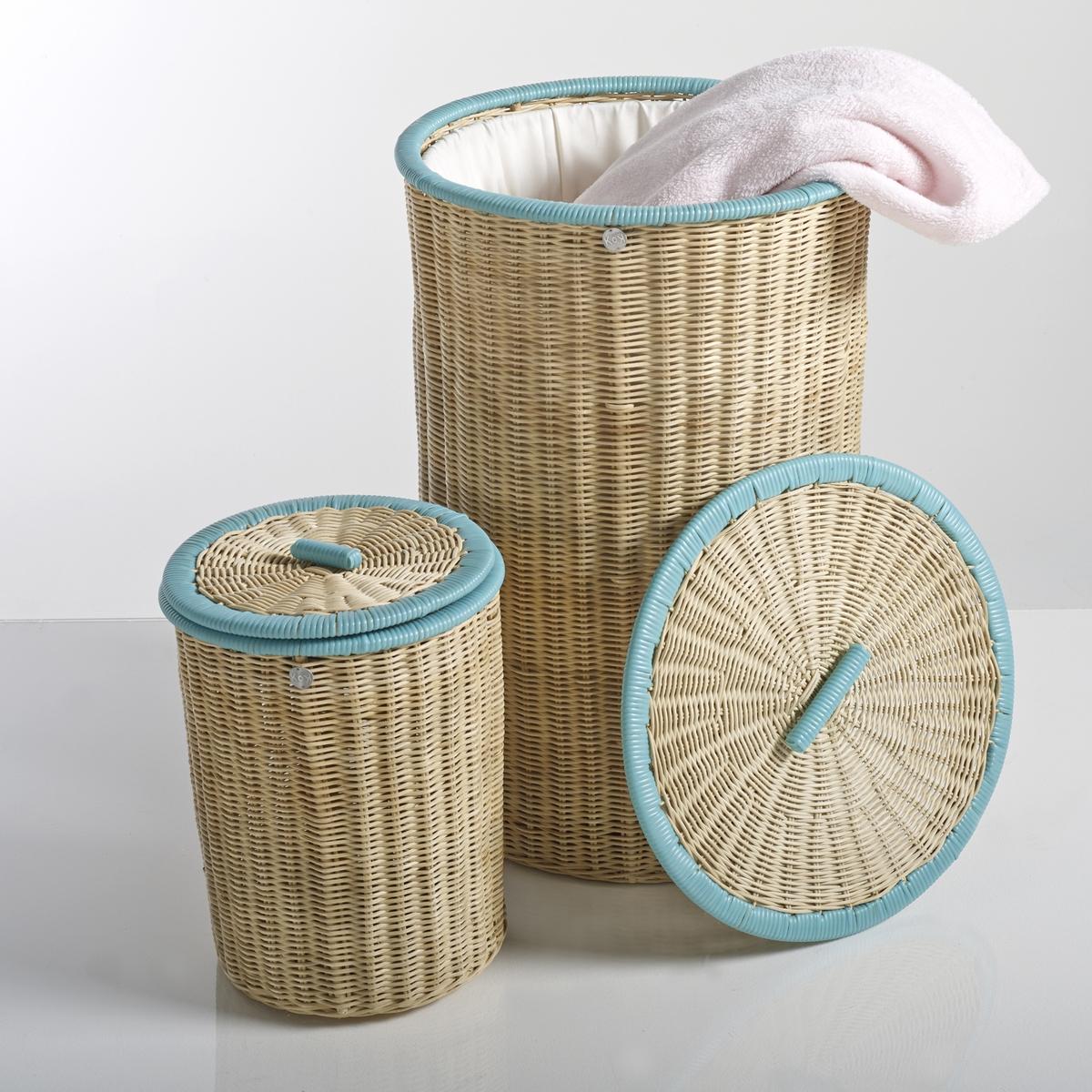 Комплект из 2 корзин с крышкой из ротанга  KOK, Ozier