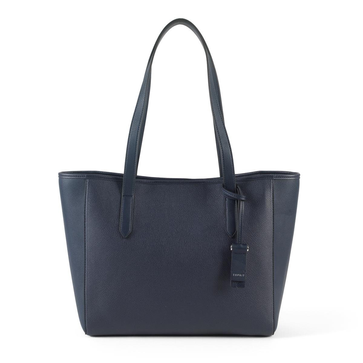 Сумка-шоппер TatumshПрактичная и стильная сумка-шоппер от Esprit : идеальна для походов по магазинам и прогулок по городу!Состав и описание : Материал : верх из полиуретана             подкладка из полиэстераМарка : EspritМодель : TatumshРазмеры : 30 x 30,5 x 14 смЗастежка : на клипсу<br><br>Цвет: синий морской,черный