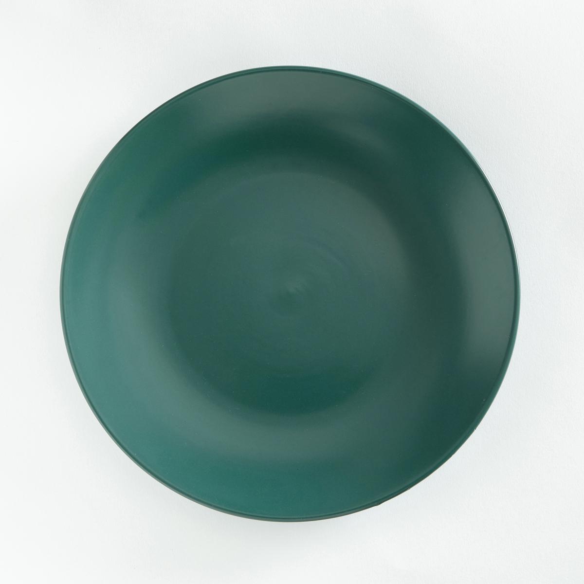 4 тарелки плоские из матовой керамики, AbessiХарактеристики 4 тарелок плоских из матовой керамики Abessi  :- Из керамики с матовой отделкой .- Диаметр 26,7 см  .- Можно использовать в посудомоечных машинах и микроволновых печах.Десертные и глубокие тарелки Abessi продаются на нашем сайте .<br><br>Цвет: зеленый