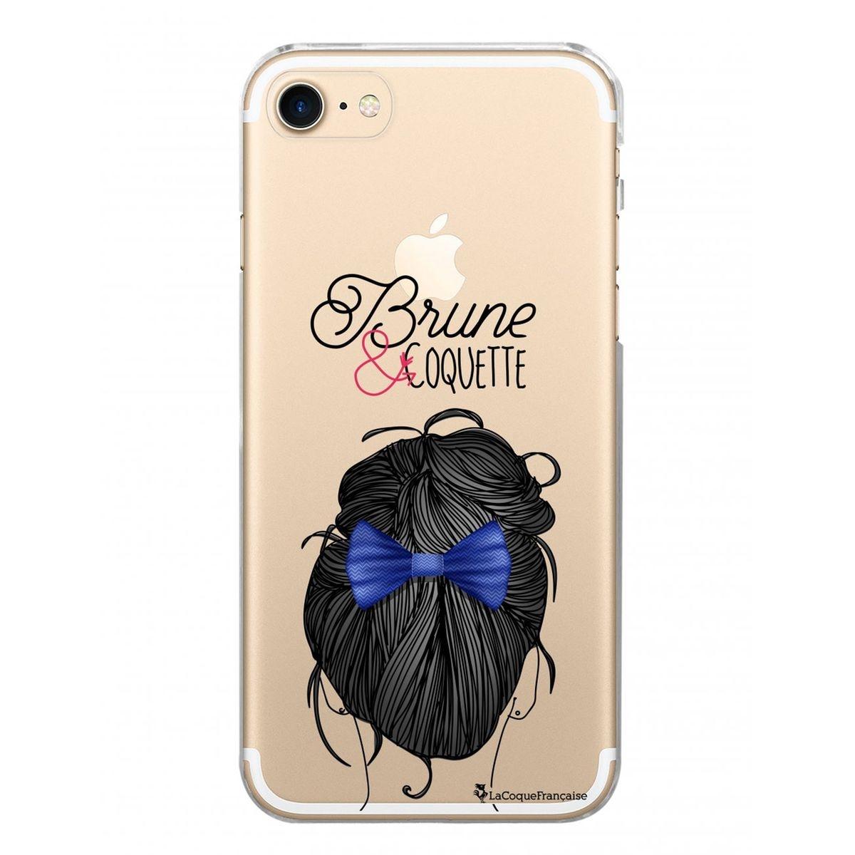 Coque iPhone 7 iPhone 8 rigide transparente, Brune et coquette, La Coque Francaise®