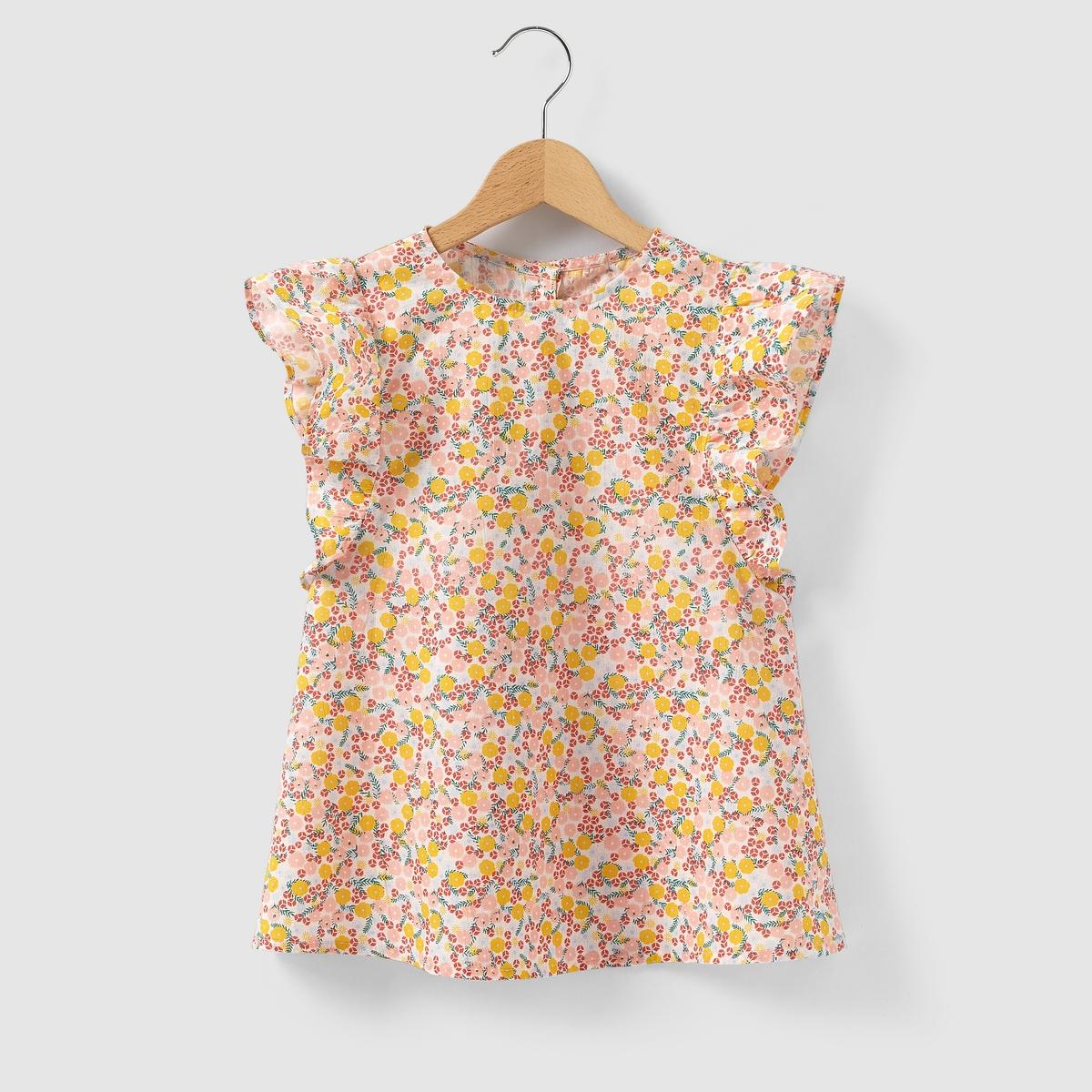 Блузка с воланами на рукавах на 3-12 лет