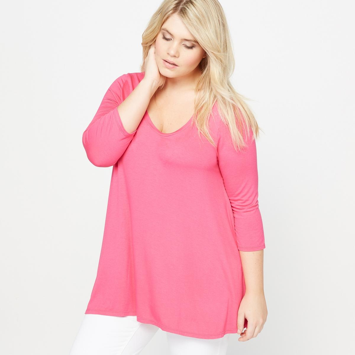 Футболка свободного покрояФутболка. Вам будет удобно в этой футболке широкого покроя с удлиненной спинкой и свободным круглым вырезом. Рукава 3/4. Футболка из мягкого эластичного трикотажа: 95% вискозы, 5% эластана. Длина : 75 см.<br><br>Цвет: розовый пурпурный,темно-серый меланж,черный<br>Размер: 54/56 (FR) - 60/62 (RUS).46/48 (FR) - 52/54 (RUS).46/48 (FR) - 52/54 (RUS).62/64 (FR) - 68/70 (RUS).46/48 (FR) - 52/54 (RUS).50/52 (FR) - 56/58 (RUS).50/52 (FR) - 56/58 (RUS).42/44 (FR) - 48/50 (RUS).50/52 (FR) - 56/58 (RUS).62/64 (FR) - 68/70 (RUS)