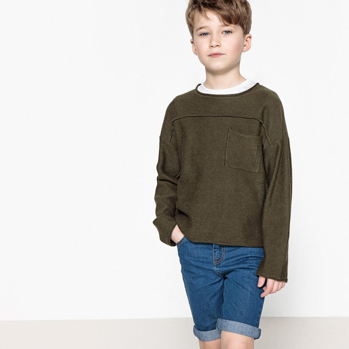 Пуловер La Redoute Свободный 10 лет - 138 см зеленый наматрасник la redoute тонкий толщина см nizami 180 x 200 см синий