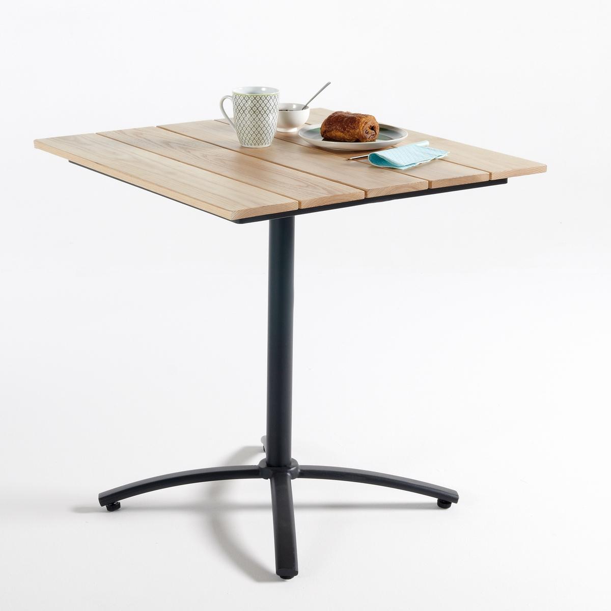 Столик складной для сада из металла и дерева, AmaliaКруглый столик на одной ножке для сада Amalia. Аккуратный круглый столик на одной ножке для сада Amalia можно использовать на террасе, балконе или в саду. Практичный столик, квадратная наклонная столешница обеспечивает легкое хранение вещей. Характеристики круглого столика на одной ножке для сада Amalia :Металлическая ножка, покрытие эпоксидным лаком.Наклонная столешница из массива дуба, покрытие полиуретановым лаком.Квадратная наклонная столешница для оптимальной экономии пространства.Размеры круглого столика на одной ножке для сада Amalia :Общие размерыШирина : 70 смВысота : 72 смГлубина : 70 смРазмеры и вес упаковки :1 упаковка76 x В.16 x 73 см13 кгДоставка:Товар продается в собранном виде. Возможна доставка до квартиры при предварительной договоренности  !   Внимание! Убедитесь, что доставка товара возможна, учитывая его габариты.<br><br>Цвет: дуб