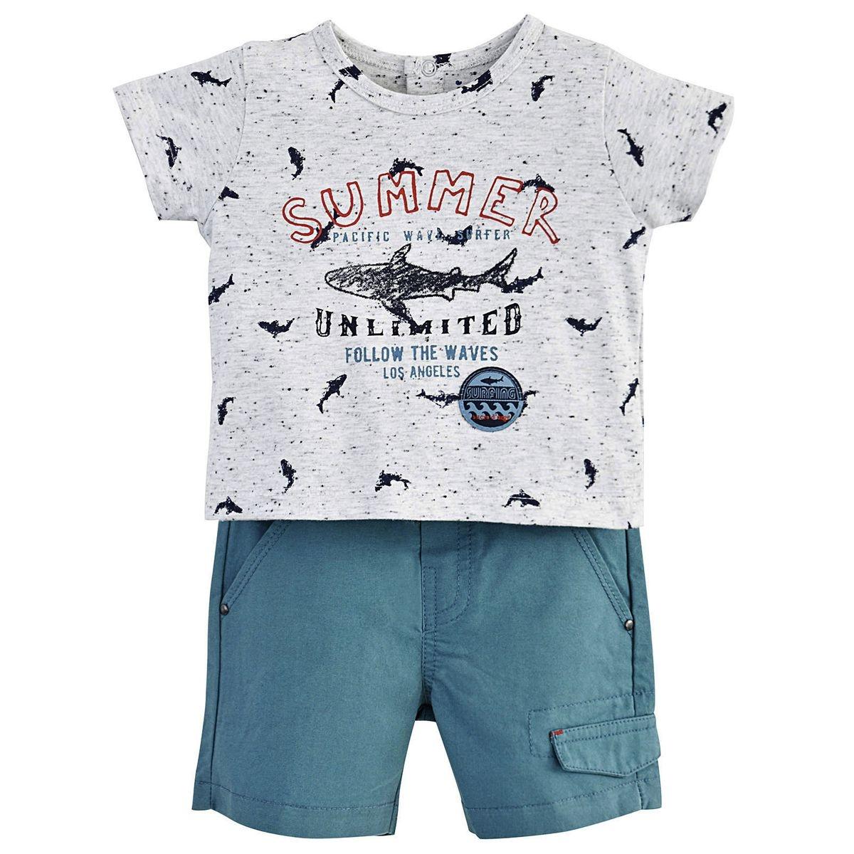 Short et t-shirt lagon