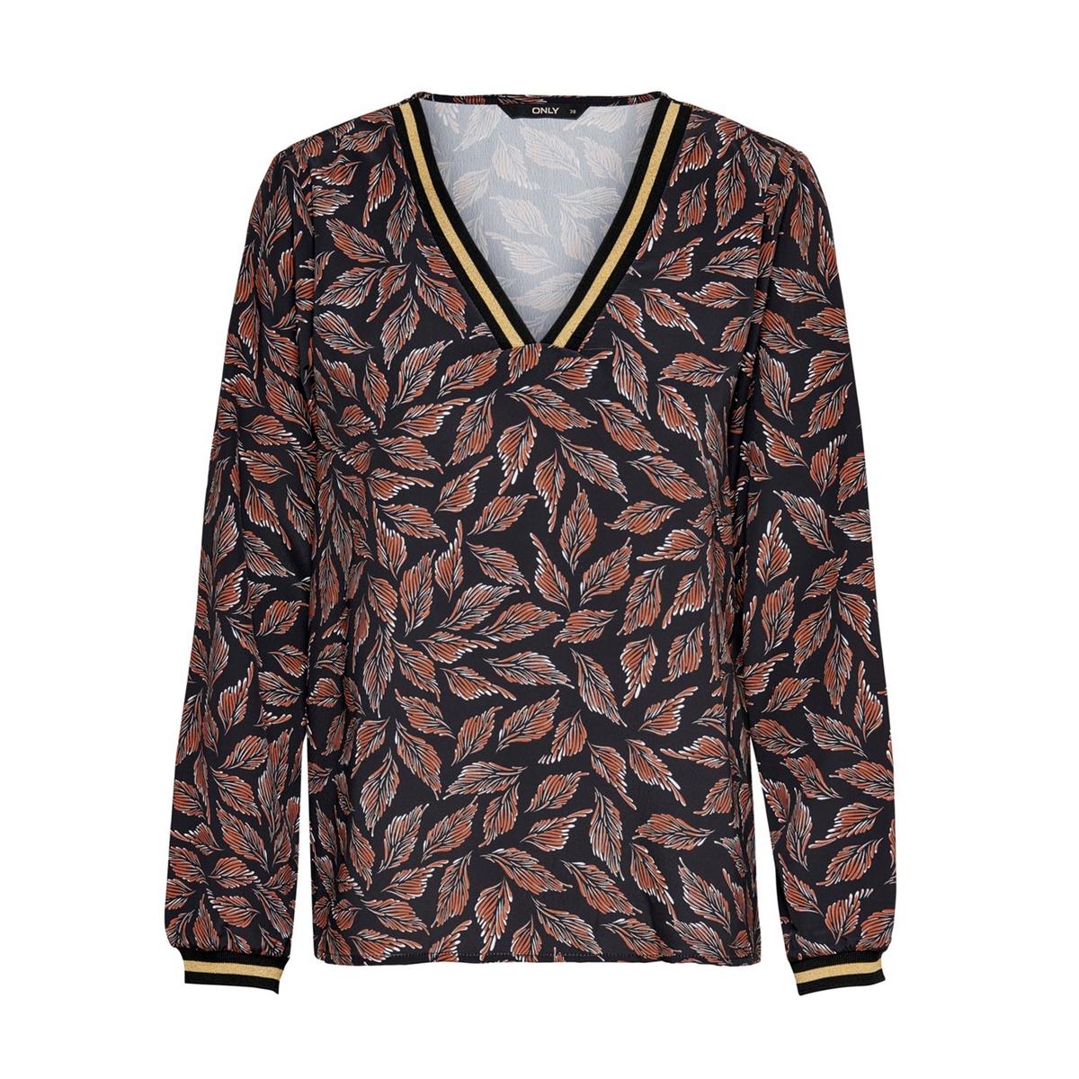Блуза La Redoute С цветочным принтом V-образный вырез 38 (FR) - 44 (RUS) черный