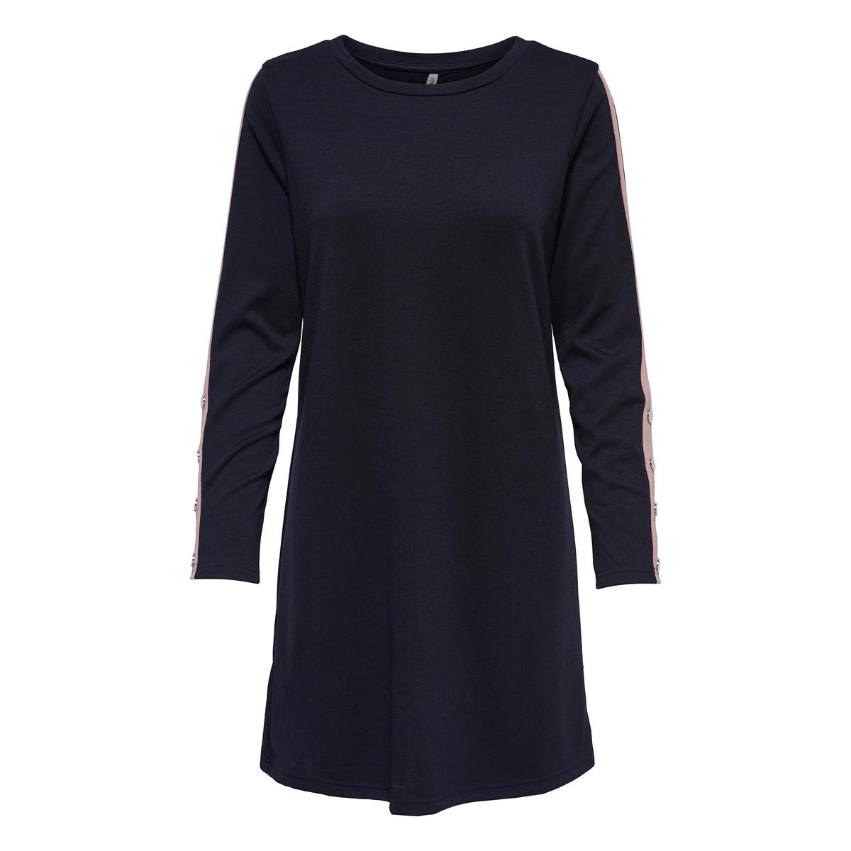 Платье-свитшот с круглым вырезом и длинными рукавами цена 2017