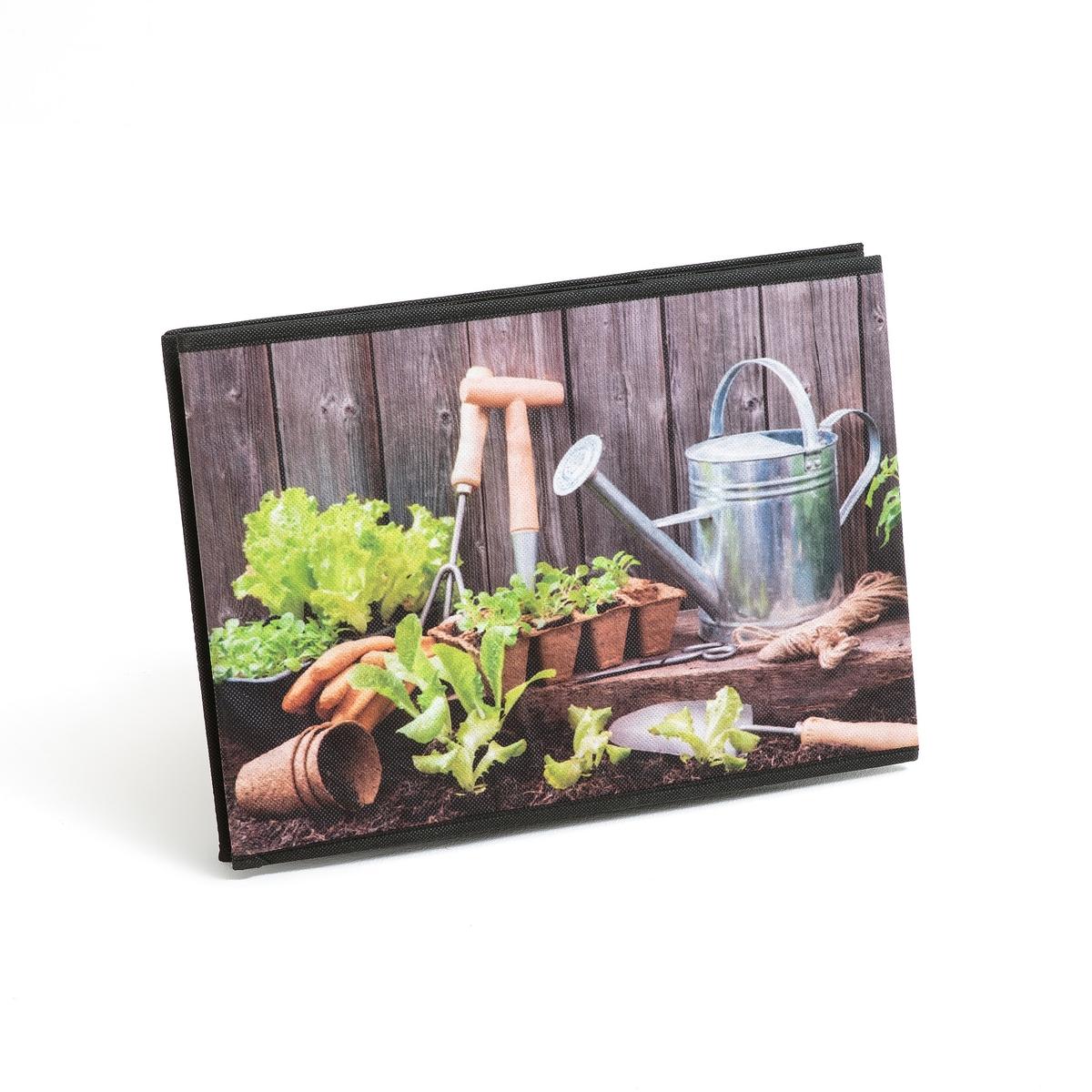 Корзина складная для хранения с рисунком сад