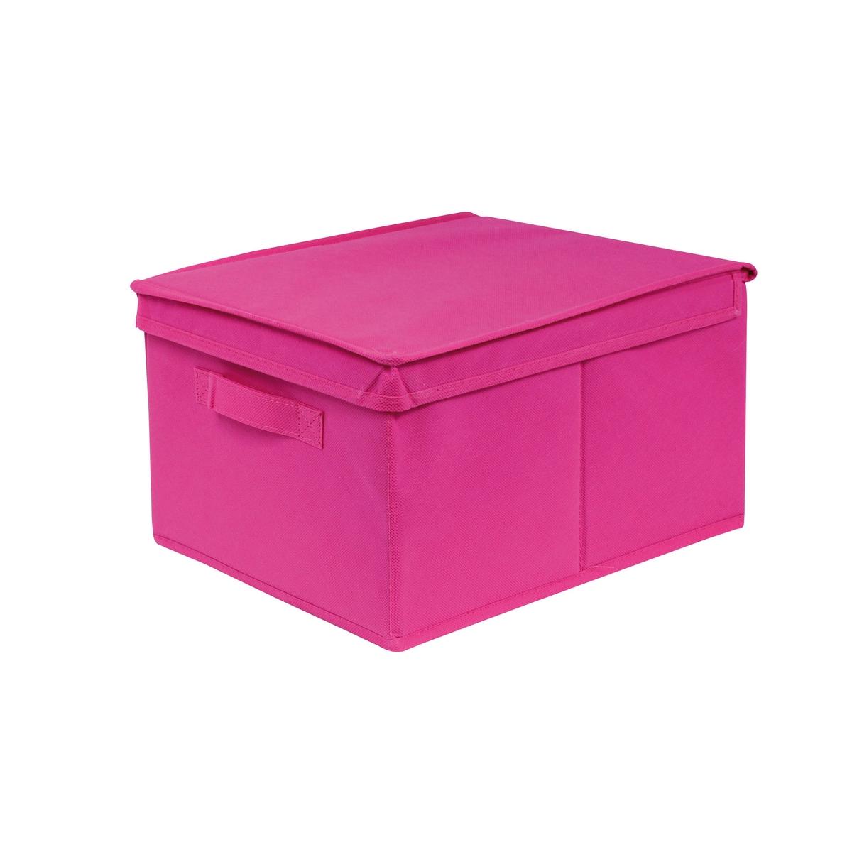 Короб 28 x 20 x 35 см, DeniseЕго прямоугольная форма позволяет хранить перчатки, шарфы, канцелярские товары и различные аксессуары . Детская комната, административные архивы, сезонные вещи или домашний текстиль… короб Denise - ультрапрактичное решение для хранения любых вещей !Характеристики короба Denise  :каркас из картона (толщ.. 1,8 мм)Обивка из ткани, 80 г/м2Описание короба Denise :Ручка спереди Крышки открывается вверх СкладнойКороба различных размеров можно найти на нашем сайте Откройте для себя всю коллекцию Denise на сайте laredoute.ruРазмеры короба Denise:Ш.28 x В.35 x Г.20 см .<br><br>Цвет: розовый<br>Размер: единый размер
