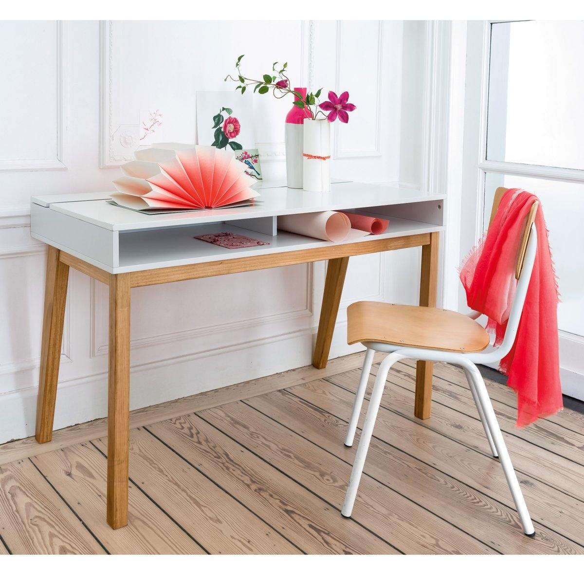 Стол La Redoute Письменный современный дизайн Jimi единый размер белый