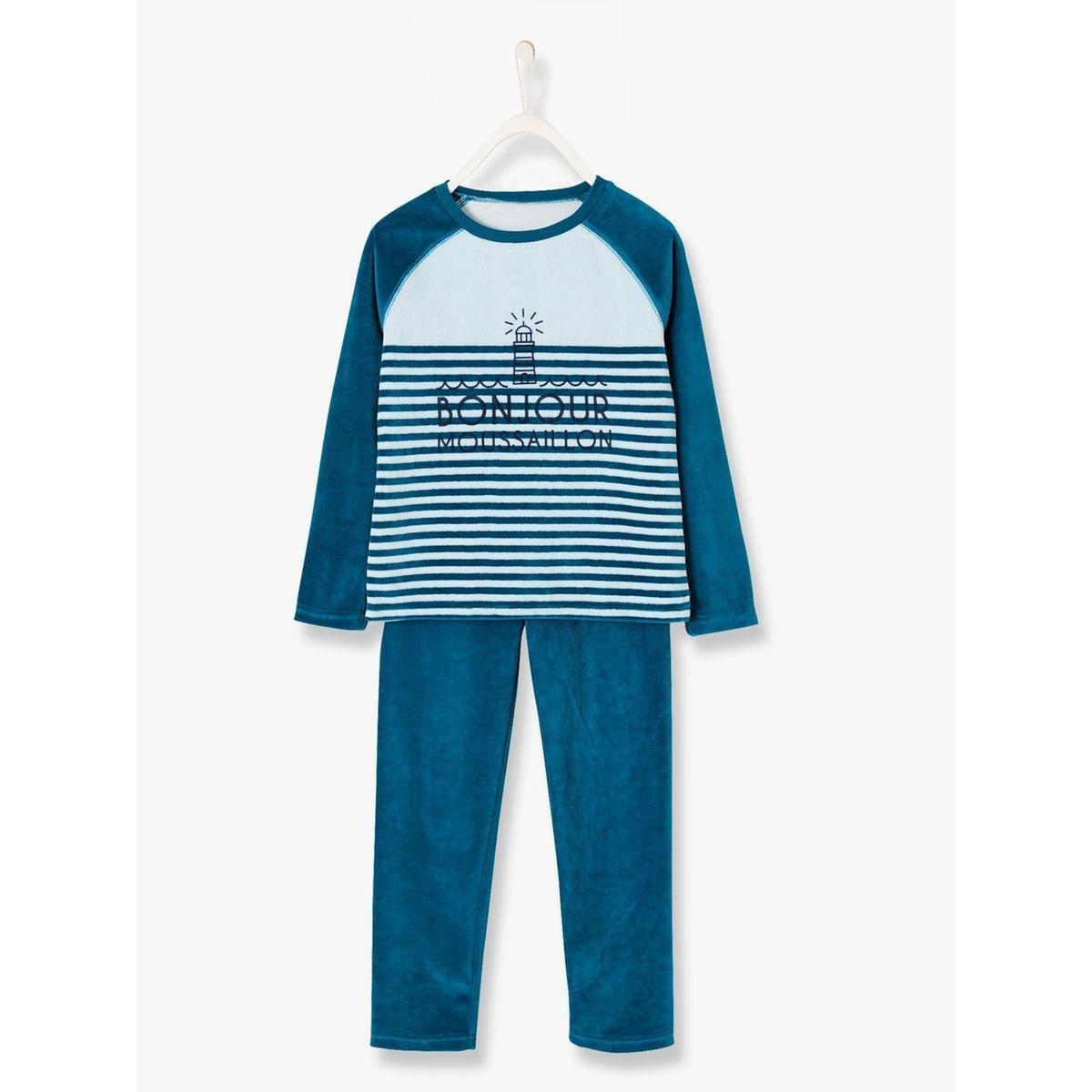 Pyjama velours garçon