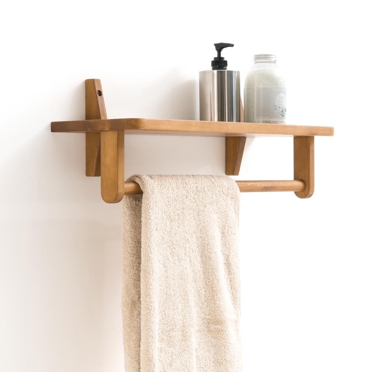 Этажерка из акации с масляным покрытием и отделкой тиковым деревомОписание:Этажерка из акации с масляным покрытием и отделкой тиковым деревом. Неглубокая этажерка (21 см) повсюду найдет свое место будь то на кухне, в ванной или гостиной!Характеристики этажерки: Из древесины акации с масляным покрытием из контролируемых источников, отделка тиковым деревом1 полка сверху, 1 перекладина для полотенец снизуВысокая устойчивость к воздействию влагиРазмеры этажерки:Длина : 56 см Ширина: 21 см Высота: 214 смРазмеры перекладины:Длина : 53 см Ширина: 2,3 см Высота: 2,34 смРазмеры и вес упаковки :1 коробка 58 x 25 x 48 см.2 кгДоставка :Этажерка доставляется в разобранном виде. Доставка осуществляется до квартиры  по предварительному согласованию !Внимание ! Убедитесь, что посылку возможно доставить на дом, учитывая ее габариты.<br><br>Цвет: акация<br>Размер: единый размер