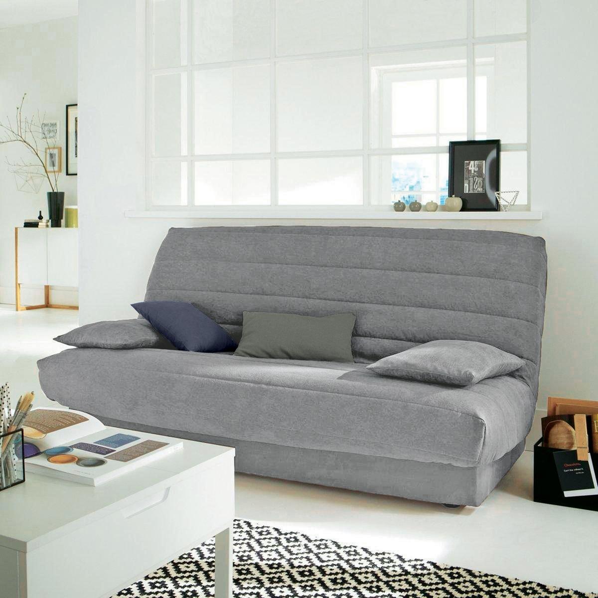 цена на Чехол La Redoute Для основания раскладного дивана из искусственной замши единый размер серый