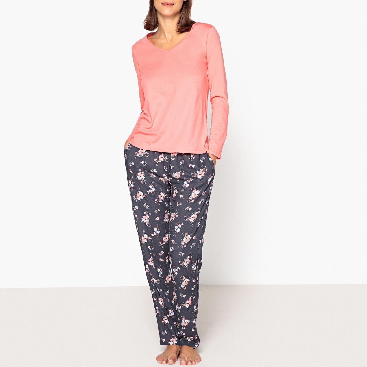 купить Пижама с цветочным принтом недорого