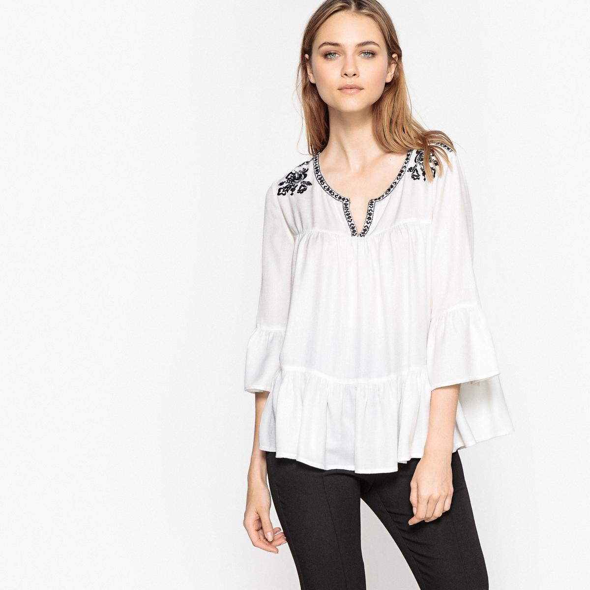 Блузка в стиле фолк с вышивкой блузка с вышивкой в этническом стиле
