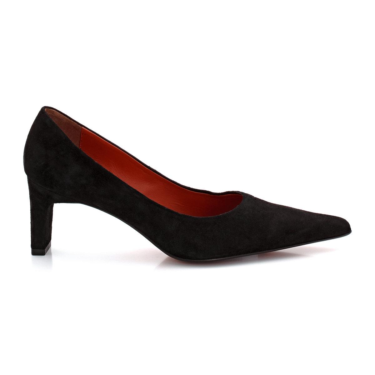 Туфли из кожи KENT от ELIZABETH STUARTТуфли, модель KENT от ELIZABETH STUARTВерх  : велюровая козья кожа.Подкладка  : кожа. Подошва  : кожа. Высота каблука  : 6,7 см.<br><br>Цвет: черный