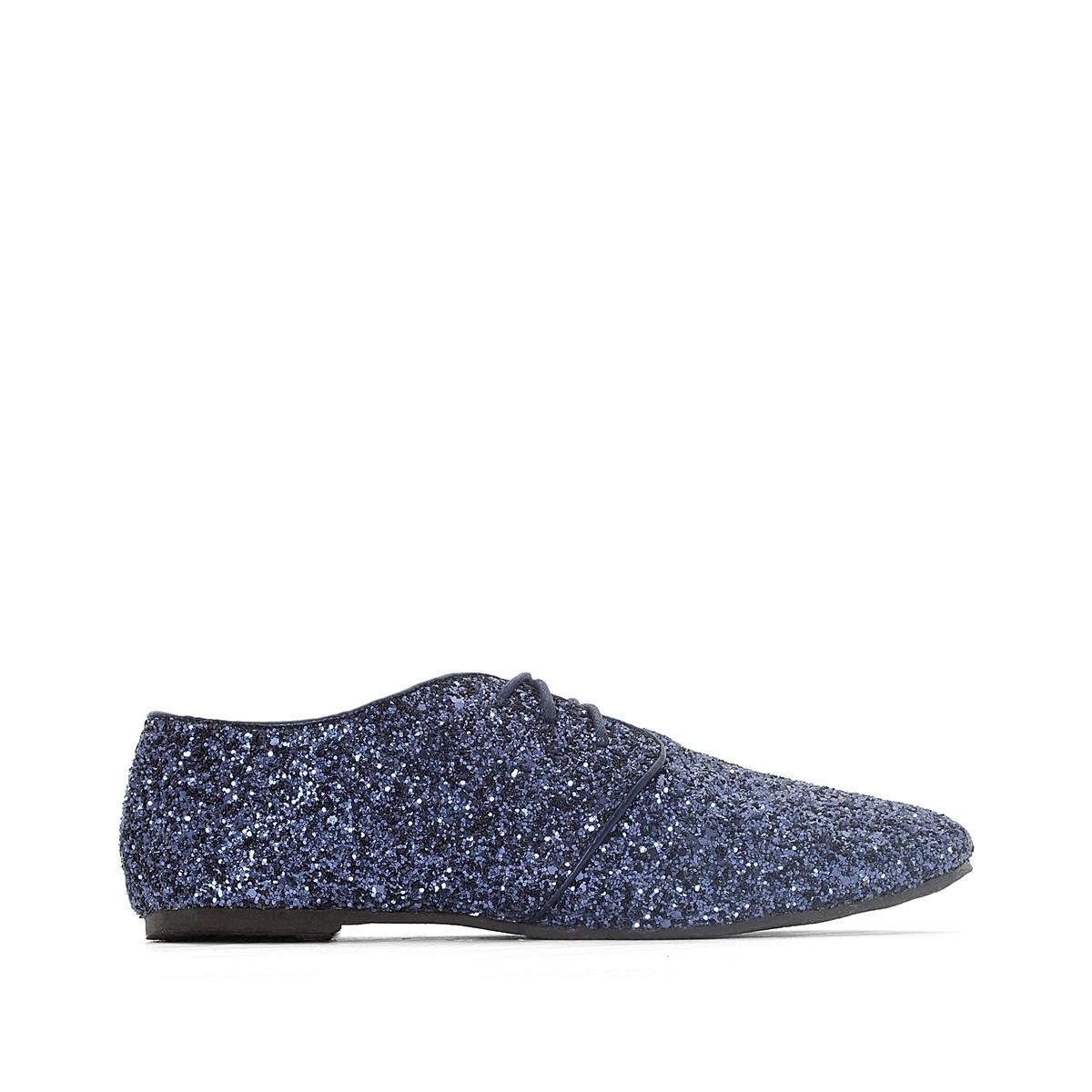 Ботинки-дерби с блестками ботинки дерби под кожу питона