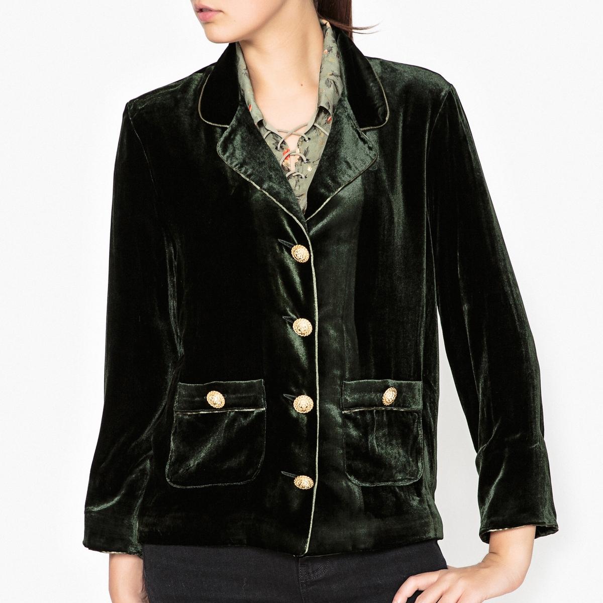 Куртка в стиле блейзера из велюра the kooples шорты для плавания