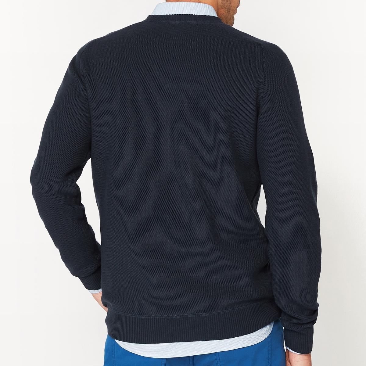 Пуловер с круглым вырезом из трикотажа 100% хлопокПуловер из трикотажа. Длинные рукава с манжетами и низом, связанными в рубчик . Прямой покрой, круглый вырез. Состав и описание :Основной материал : 100% хлопокМарка : R essentiel.Длина : 71 смУход :Машинная стирка при 40°ССтирать, предварительно вывернув наизнанкуОтбеливание запрещеноГладить при средней температуреСухая (химическая) чистка разрешена.Машинная сушка запрещена<br><br>Цвет: темно-синий,черный<br>Размер: S.3XL.XL.L.M.S.3XL.XXL.L.M