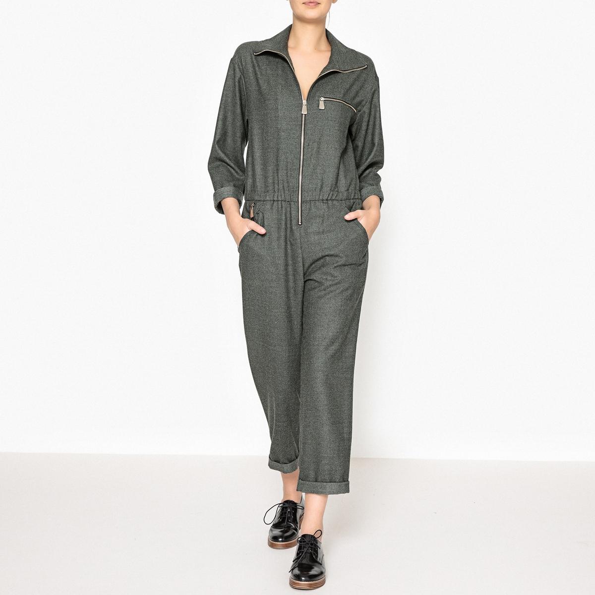 Комбинезон с брюками на молнии