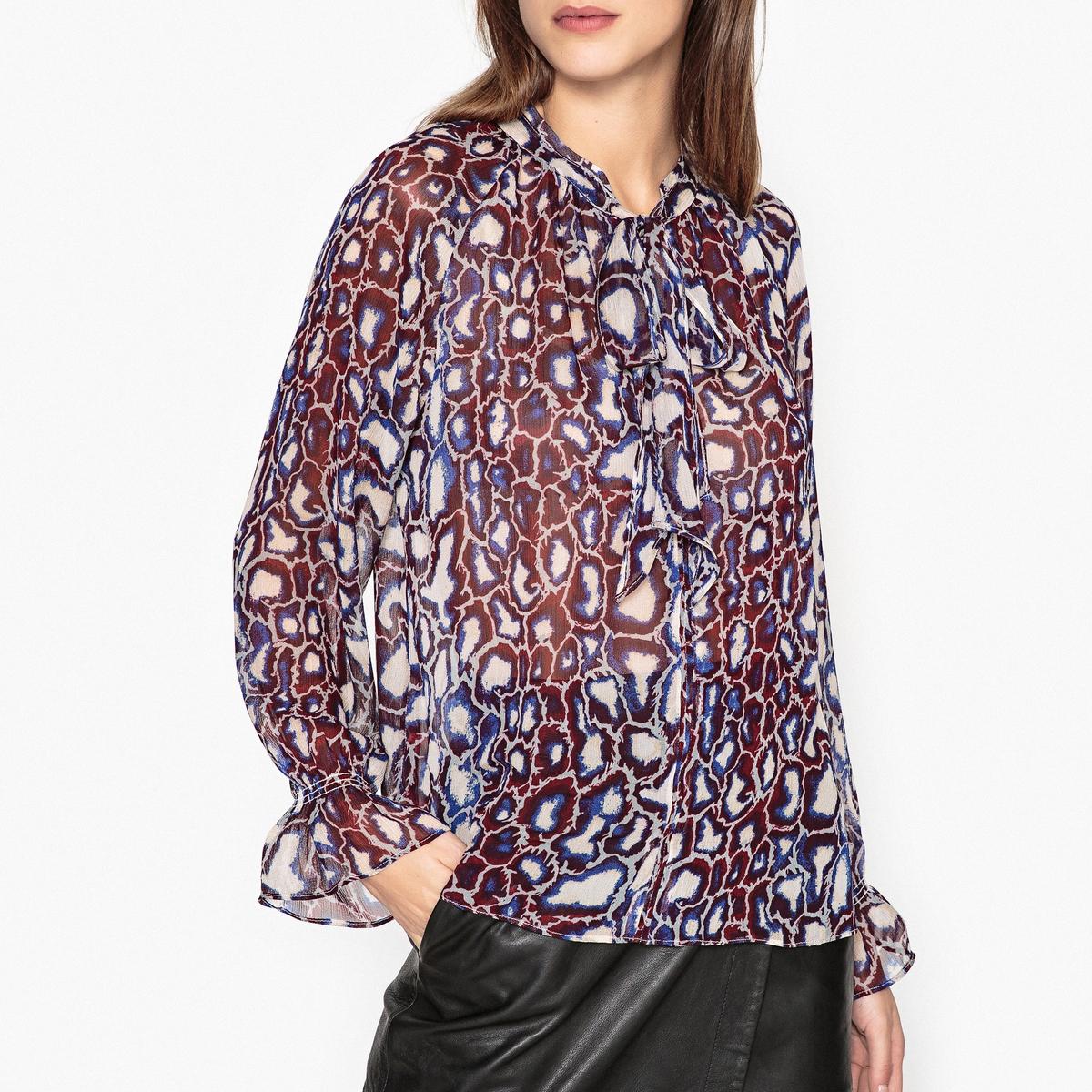 Блузка из вуали с рисунком CARTER