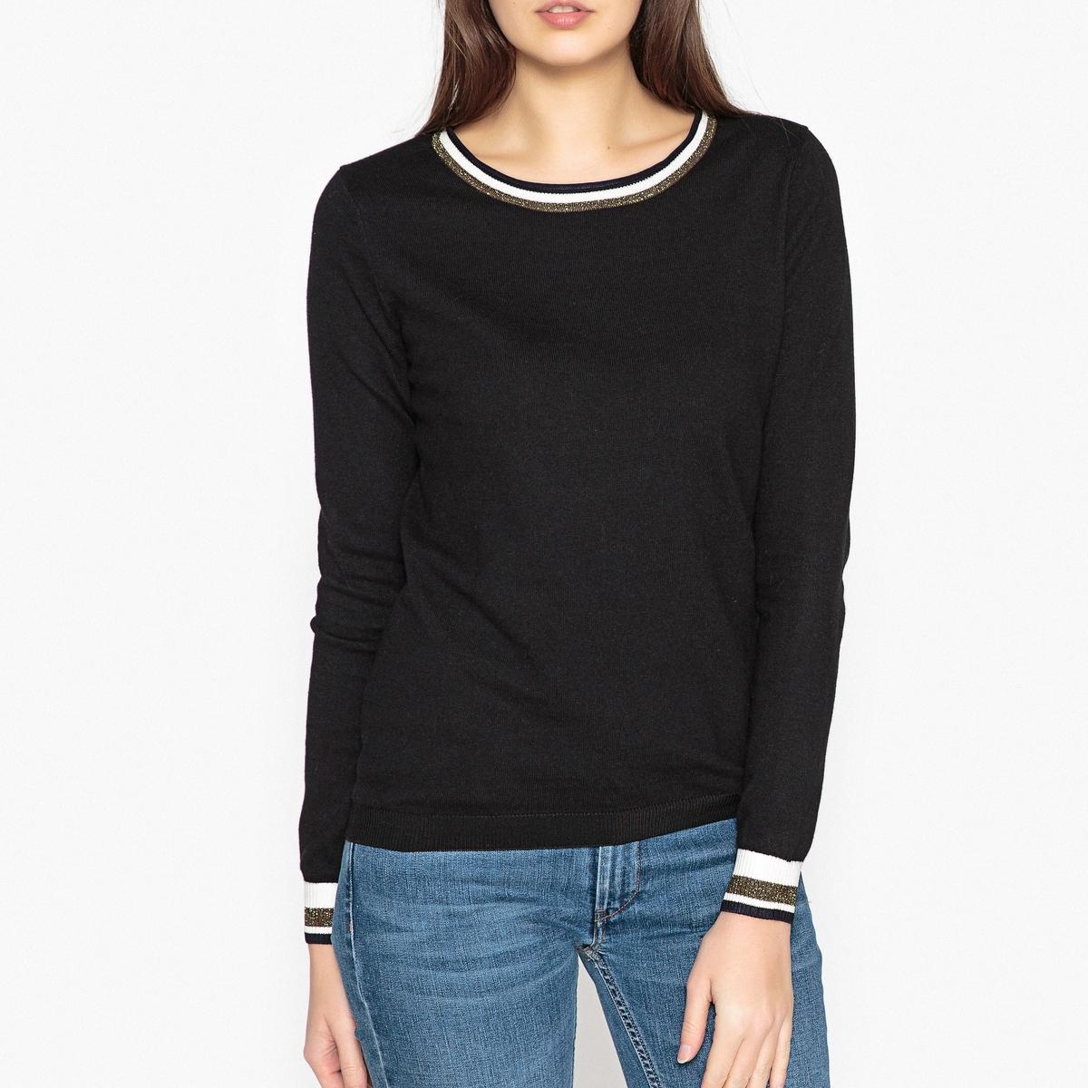 Пуловер с круглым вырезом, из тонкого трикотажа maison scotch maison scotch 133 1621 0351131250 c