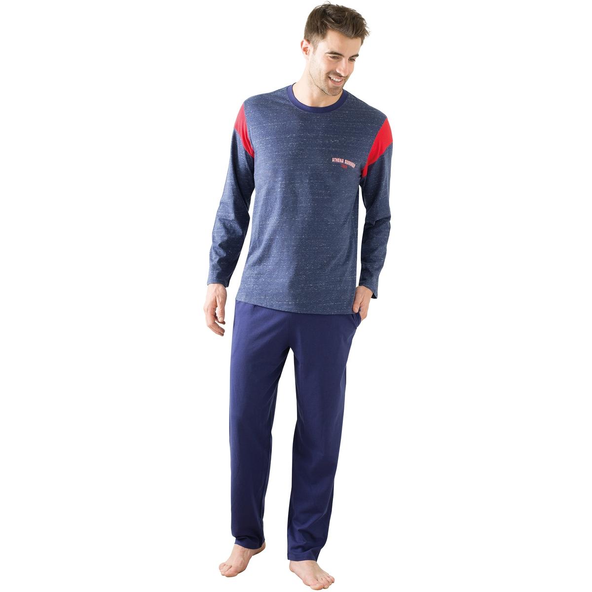 Пижама длинная с длинными рукавами