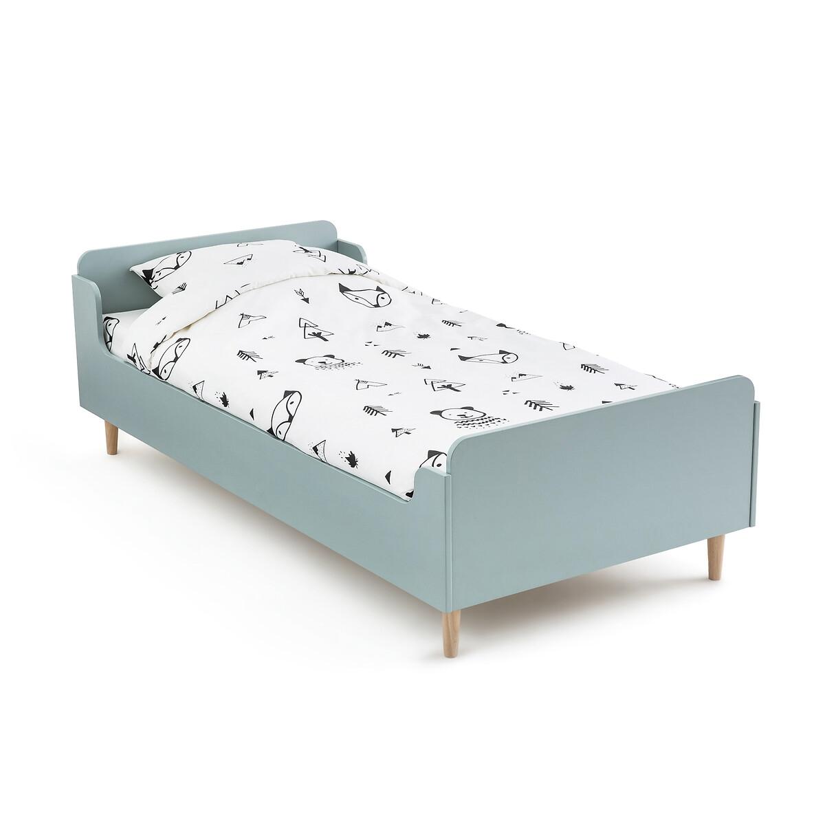 Кровать LaRedoute Детская с кроватным основанием Darian 90 x 190 см зеленый кровать laredoute с ящиком отделениями для вещей и кроватным основанием yann 90 x 190 см белый