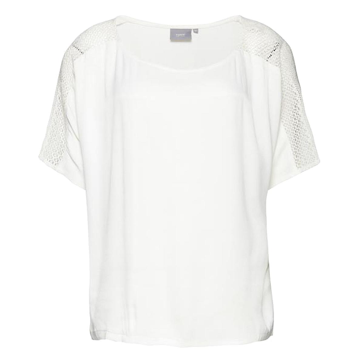 Блузка с короткими рукавамиДетали  •  Длинные рукава •  Круглый вырез •  Рисунок-принт Состав и уход  •  100% полиэстер •  Следуйте рекомендациям по уходу, указанным на этикетке изделия<br><br>Цвет: белый<br>Размер: 38 (FR) - 44 (RUS)