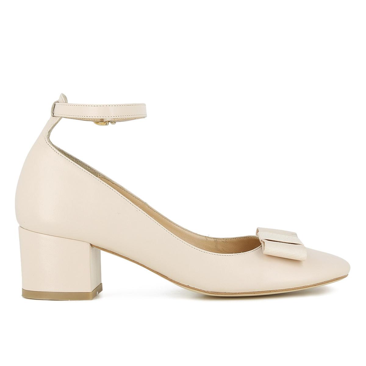 Туфли кожаные на широком каблуке, Vahe цены онлайн