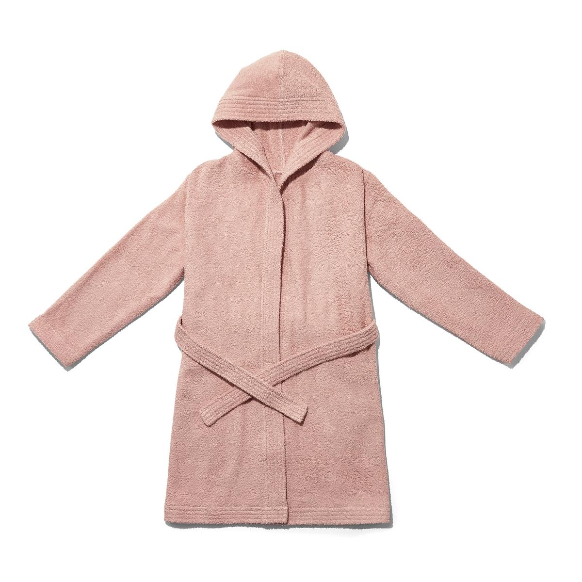 Халат La Redoute Детский с капюшоном из биохлопка Scnario 8/10 лет - 126/138 см розовый
