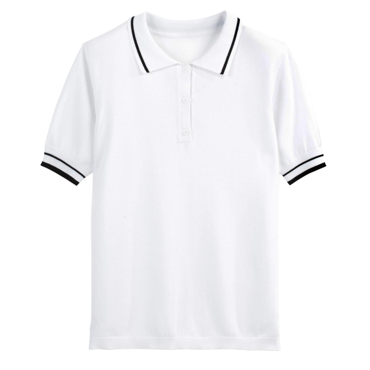 Jersey con cuello polo de punto fino