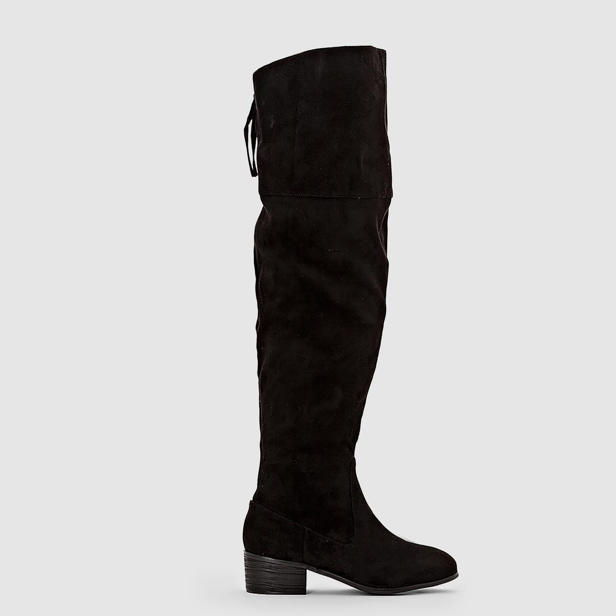 Бофорты на молнии на плоском каблуке для широкой стопы, размеры 38-45 от CASTALUNA