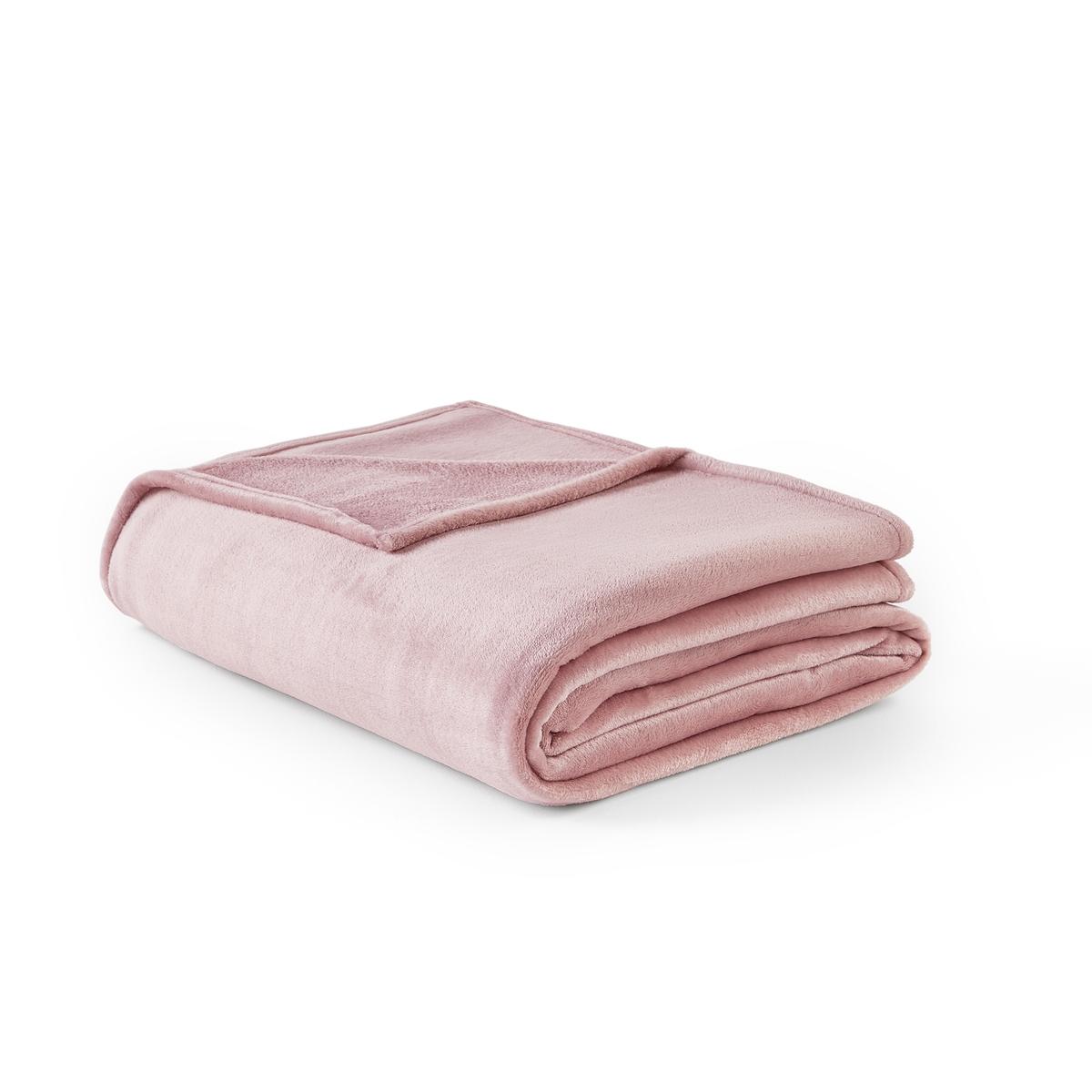 Одеяло La Redoute Из микрофибры Mild 240 x 220 см розовый