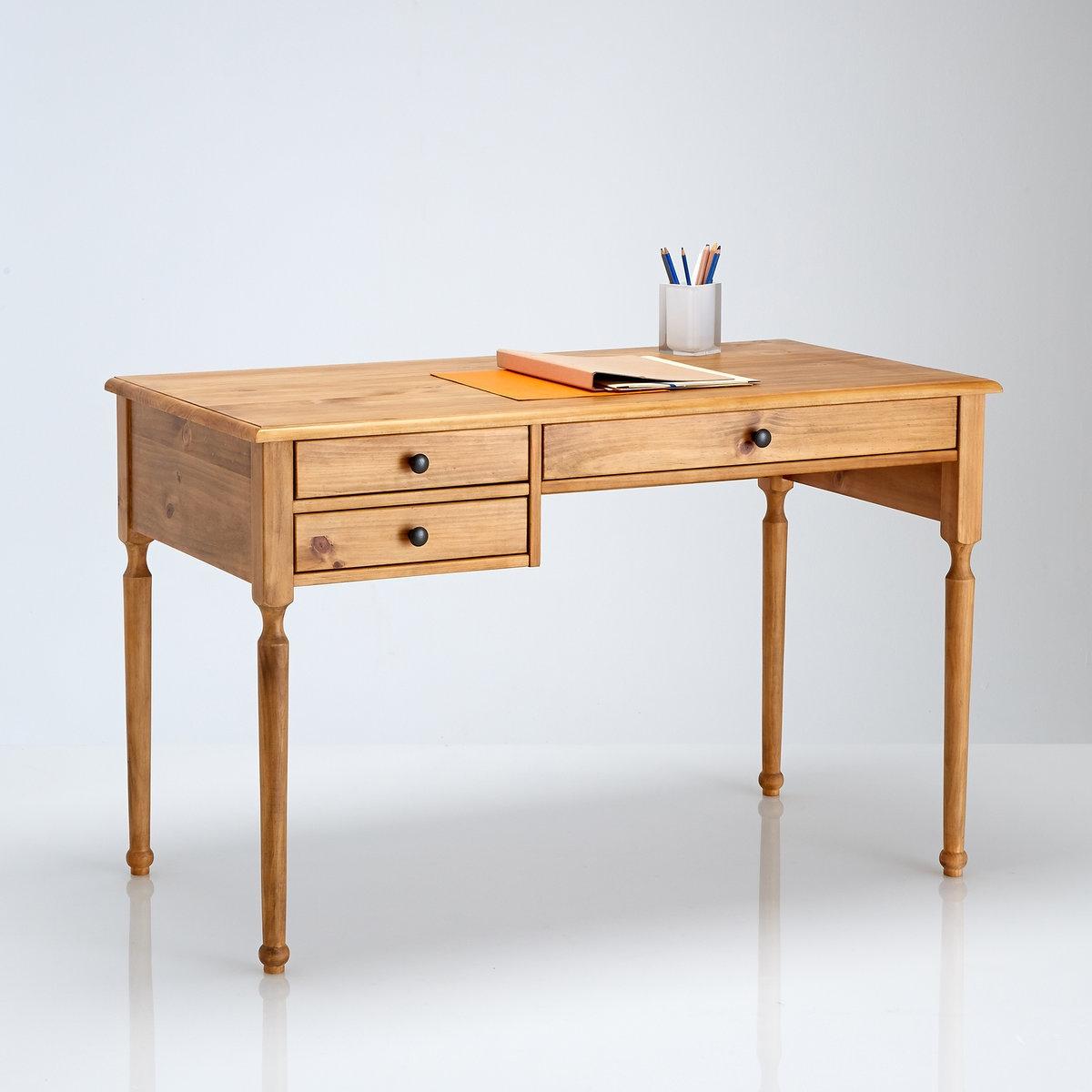 Стол La Redoute Письменный из массива сосны Authentic Style единый размер бежевый