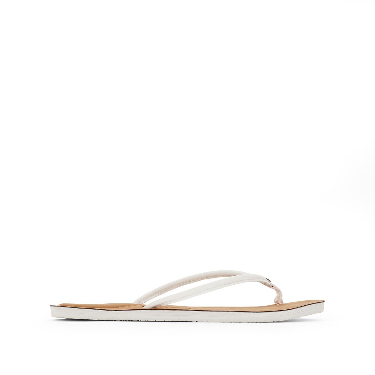 Вьетнамки LunaВерх/Голенище : синтетика   Стелька : синтетика   Подошва : каучук   Форма каблука : плоский каблук   Мысок : открытый мысок   Застежка : без застежки<br><br>Цвет: белый<br>Размер: 37