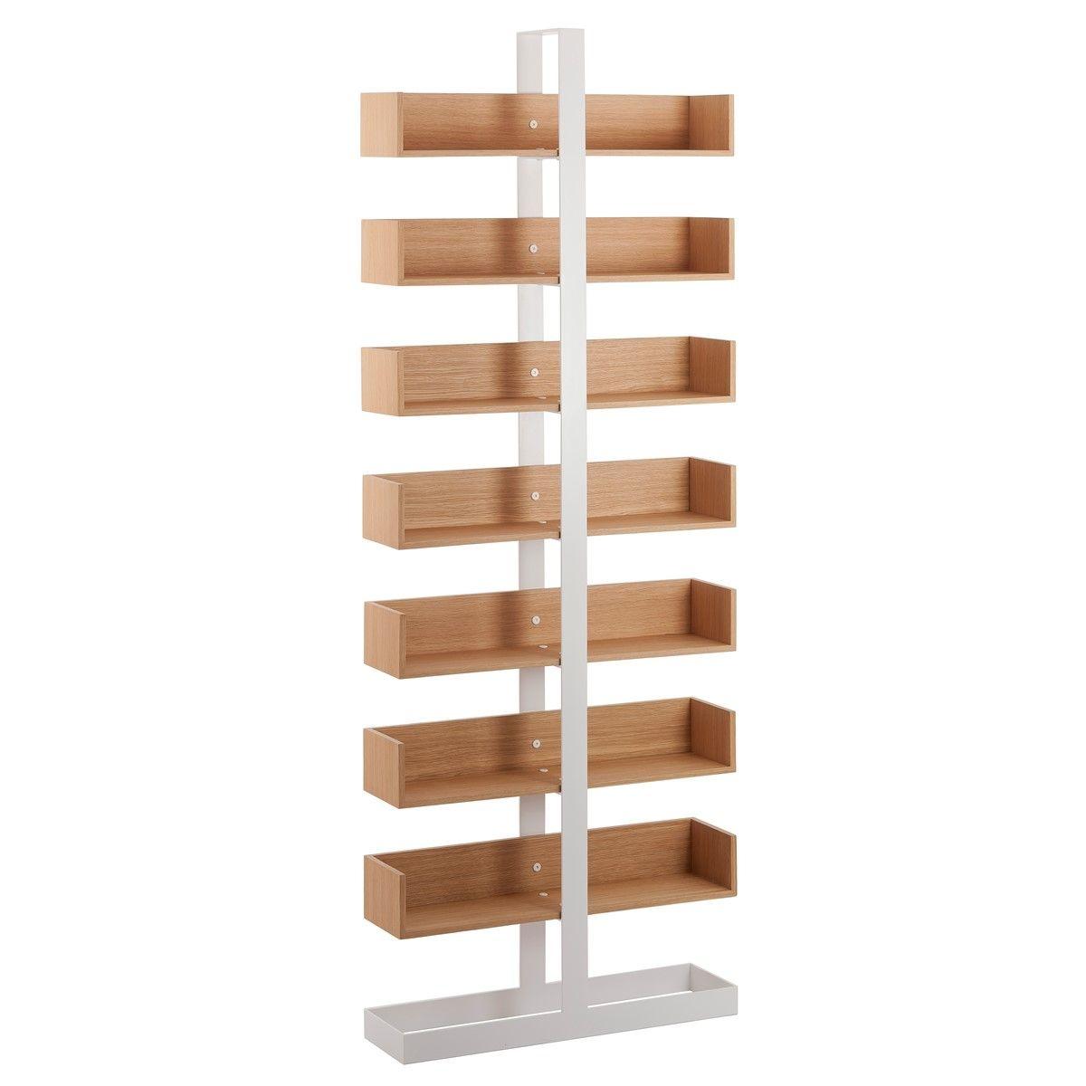 Bibliothèque design bois et métal