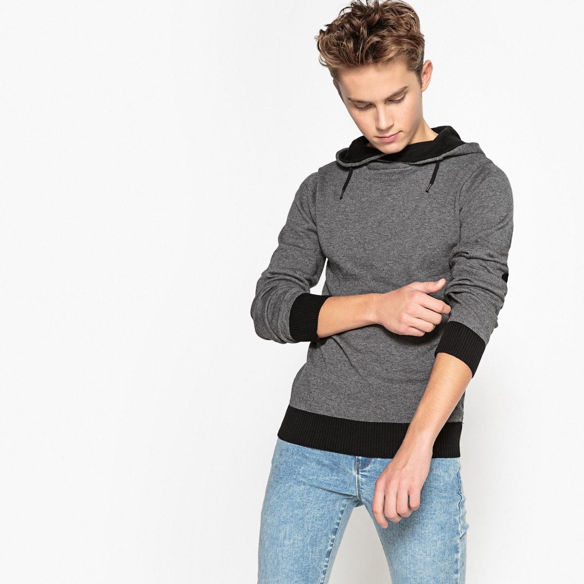 Пуловер с капюшоном, 10-16 лет