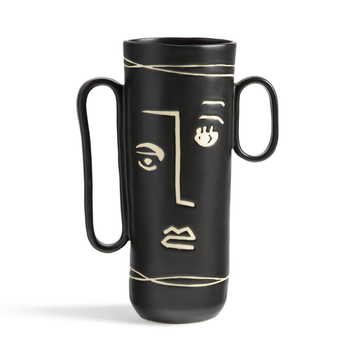 Ваза La Redoute Из керамики Antigone единый размер черный чашки la redoute из керамики shima единый размер зеленый
